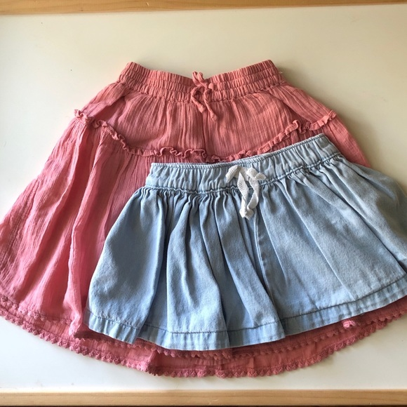 20b57e9468683 Hanna Andersson Bottoms | 2 Toddler Girls Spring Summer Skirts 1824 ...